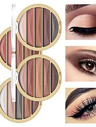 Недорогие -5 цветов жемчужно-матовые тени для век блюдо земля цвет портативный водонепроницаемый прочный макияж глаз