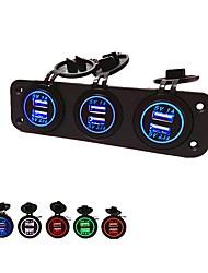 Недорогие -5v 3.1a автомобильное зарядное устройство с тремя отверстиями и 6 USB-портами. Водонепроницаемые адаптеры питания.
