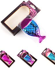 abordables -Profesional Pinceles de maquillaje 1 Pieza Profesional Bonito Creativo Nuevo diseño Gradiente de Color Plástico para Herramientas de Maquillaje Pinceles de Maquillaje Cepillo para Base Brocha de