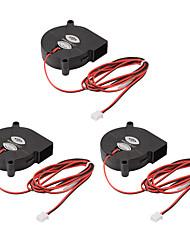 Недорогие -3 шт. Безщеточный dc12v 5015 охлаждающий вентилятор вытяжной вентилятор 2-контактный для 3d-принтер