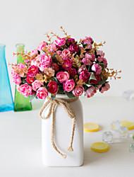 Недорогие -1 шт. Искусственный цветок континентальный 21 снежинка алмаз роза инженерия искусственный цветок декоративные цветы спальня гостиная столовая украшения симулятор завод цветок