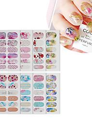 abordables -3 pcs Calcomanías de Uñas 3D Adhesivos Flor arte de uñas Manicura pedicura Resistente al Agua / Interface 3D / Ecológica Elegante / Dulce Navidad / Ocasión especial / Halloween