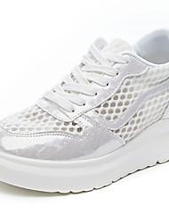 cheap -Women's Sneakers Flat Heel Round Toe Mesh Summer White