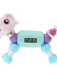 Недорогие -Девочки электронные часы Кварцевый Милый Цифровой На каждый день - Лиловый Пурпурный Синий