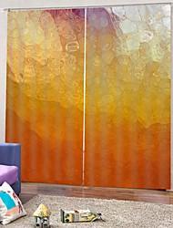 Недорогие -Горячая распродажа низкая цена 3d печать шторы простой дизайн, высокое качество затемнения ткани занавес для гостиной спальня род комплект занавес готовые