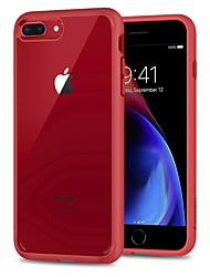 ieftine -Maska Pentru Apple iPhone 8 Plus / iPhone 7 Plus Anti Șoc / Anti Praf / Transparent Capac Spate Transparent Greu TPU / PC pentru iPhone 8 Plus / iPhone 7 Plus