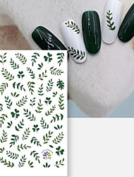 Недорогие -1 pcs Наклейка для переноса воды ботанический / Clover маникюр Маникюр педикюр Экологичные / Универсальный / Тонкий дизайн Стиль / тропический Повседневные / фестиваль