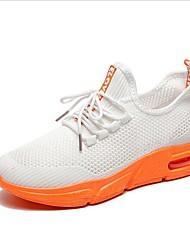 Χαμηλού Κόστους -Γυναικεία Αθλητικά Παπούτσια Επίπεδο Τακούνι Φουσκωτό πηνίο Ανοιξη καλοκαίρι Λευκό / Μαύρο / Ροζ