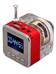 Недорогие -Bluetooth мини-динамик радио mp3-плеер ЖК-монитор синий поддержка SD / TF карты