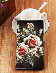 Недорогие -Кейс для Назначение SSamsung Galaxy S9 / S9 Plus / S8 Plus Кошелек / Бумажник для карт / со стендом Чехол Цветы Кожа PU