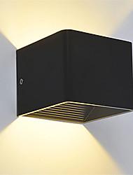 Недорогие -современный 3w вел настенный светильник светильник крытый прихожая верхний настенный светильник черный белый опционально