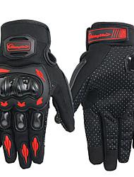 Недорогие -Перчатки для велосипедистов Перчатки для сенсорного экрана Нескользящий Мотоспорт Эргономический дизайн Спортивные перчатки Черный Зеленый Красный для Взрослые