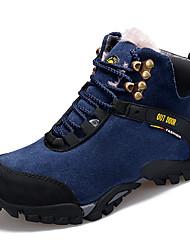 Недорогие -Муж. Кожаные ботинки Кожа Зима Спортивные / На каждый день Ботинки Для пешеходного туризма / Для прогулок Сохраняет тепло Ботинки Черный / Красный / Синий / на открытом воздухе / Офис и карьера