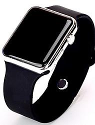 Недорогие -Муж. Спортивные часы электронные часы Цифровой силиконовый Черный / Белый Повседневные часы Цифровой минималист - Золотой / Белый Черный / Розовое золото / Нержавеющая сталь