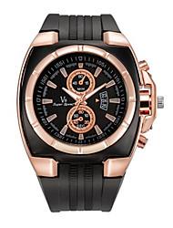 Недорогие -Муж. Нарядные часы Кварцевый Спортивные Pезина Черный тахометр Аналого-цифровые На открытом воздухе - Черный
