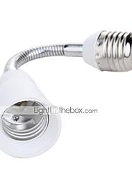 Недорогие -E27 20см светодиодная лампа освещения удлинитель держатель гибкий удлинитель адаптер конвертер белый кабель фары