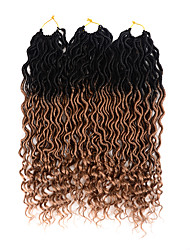Недорогие -Омбре Уход за волосами Спиральные плетенки Кудрявый Искусственные волосы 20 дюймы Наращивание волос плетение волос хохол Вино 3 предмета Классический Легко для того чтобы снести 100% волосы канекалона