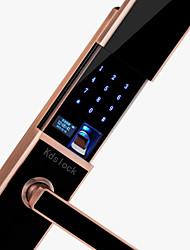Недорогие -слайд отпечатков пальцев пароль замок смарт двери безопасности электронный замок двери дома деревянная дверь приложение дверной замок