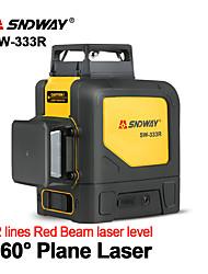 Недорогие -лазерный уровень sndway sw-333r зеленый лазерный уровень 360 градусов 3d самовыравнивающийся вертикальный горизонтальный вращающийся лазер 12 уровней лазерного уровня