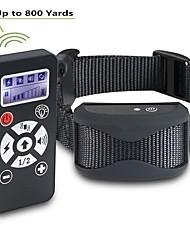 Недорогие -ошейник для дрессировки собак дистанционное управление водонепроницаемый перезаряжаемый жк-шок вибрации звуковой ошейник 181