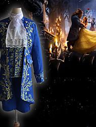 Недорогие -Принц Зверь и Красота Винтажная коллекция Средневековый Инвентарь Маскарад Муж. Костюм Синий Винтаж Косплей Для вечеринок Halloween Длинный рукав