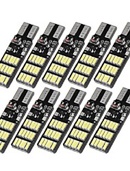 Недорогие -10 шт. T10 w5w 30smd светодиодные габаритные огни автомобиля клин лампа с 3 режимами вспышки 6 Вт 240lm белый