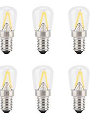 Недорогие -6шт 2 W LED лампы накаливания 300 lm E14 2 Светодиодные бусины Новый дизайн Тёплый белый 200-240 V