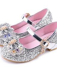 Недорогие -Девочки Детская праздничная обувь Полиуретан Обувь на каблуках Маленькие дети (4-7 лет) Серебряный / Красный / Розовый Лето