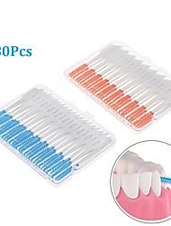 Недорогие -80шт зубная нить межзубная щетка зубы палочки мягкие силиконовые оральная чистка
