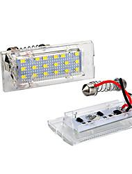 povoljno -2pcs / set led bez svjetla registarske tablice za bmw e53 x5 e83 x3