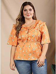 povoljno -Bluza Žene Dnevno Cvjetni print žuta