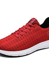 ieftine -Bărbați Pantofi de confort Plasă Toamna iarna Adidași de Atletism Negru / Alb / Rosu