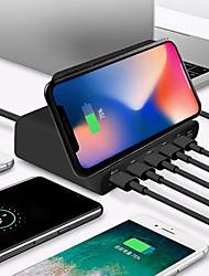 Недорогие -10 Вт ци беспроводное зарядное устройство для iphone X XS Max Multi USB быстрая зарядка 3.0 быстрая зарядка для Samsung S9 S8
