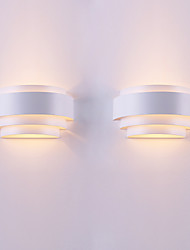 Недорогие -2шт современный контрактный индивидуальный характер дуги оригинальность настенный светильник относится к гостиной / спальне