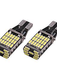 billige -2pcs T15 Bil Elpærer SMD 4014 45 LED Blinklys / Bremselys / Reversering (backup) lys Til Universell Alle år
