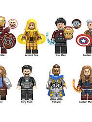Недорогие -супер героев мстители Minifigures 9pcs / серия железный человек Бэтмен Супермен человек-паук строительные наборы блоков модели игрушечные