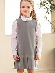 povoljno -Dijete koje je tek prohodalo Djevojčice Aktivan Jednobojni Dugih rukava Iznad koljena Haljina Sive boje