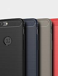 povoljno -Θήκη Za OnePlus OnePlus 6 / OnePlus 5T / One Plus 3T Otporno na trešnju Stražnja maska Jednobojni Carbon Fiber