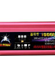 Недорогие -высокое качество автомобильный инвертор 48vand60v до 110v 1000w многофункциональный автомобильное зарядное устройство / инвертор / конвертер с USB-разъемом