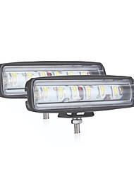 Недорогие -90 Вт 6-дюймовый выпуклый объектив 6led рабочий свет 12v24v 4x4 автомобильный светодиодный светильник package2pcs