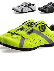 Недорогие -SANTIC Взрослые Обувь для шоссейного велосипеда Дышащий Противозаносный Амортизация Отдых и Туризм Верховая езда Велосипедный спорт / Велоспорт Черный Зеленый Белый Муж. Обувь для велоспорта