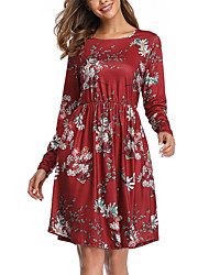 povoljno -Žene A kroj Haljina Cvjetni print Do koljena