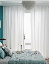 Недорогие -европейский Semi-Sheer 2 шторы Прозрачный Спальня   Curtains