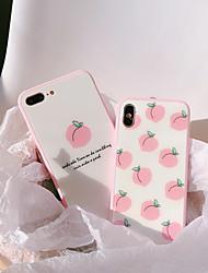 Недорогие -Кейс для Назначение Apple iPhone XS / iPhone XR / iPhone XS Max Ультратонкий / С узором Кейс на заднюю панель Продукты питания / Мультипликация Закаленное стекло