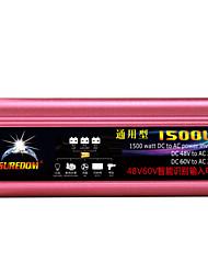 Недорогие -высокое качество автомобильный инвертор 48vand60v до 220v 1500w многофункциональный автомобильное зарядное устройство / инвертор / конвертер с USB-разъемом