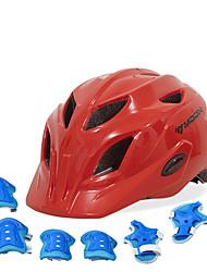 Недорогие -Детские Мотоциклетный шлем BMX Шлем 28 Вентиляционные клапаны прибыль на акцию ABS + PC Виды спорта На открытом воздухе Велосипедный спорт / Велоспорт - Небесно-голубой Пурпурный Красный Универсальные
