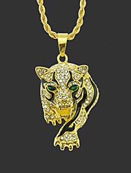 Недорогие -Муж. Ожерелья с подвесками длинное ожерелье Классический Tiger Уникальный дизайн Мода Позолота Хром Золотой Серебряный 75 cm Ожерелье Бижутерия 1шт Назначение Для улицы
