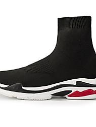 hesapli -Erkek Ayakkabı Örgü Sonbahar Spor Ayakkabısı Günlük için Siyah