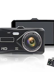 Недорогие -4,0-дюймовый Ips сенсорный экран автомобиля рекордер Full HD 1080p с двумя объективами камеры заднего вида