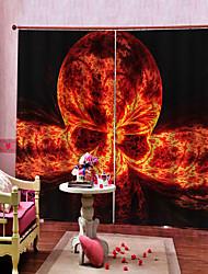 Недорогие -роскошные простые шторы готовые счастливые хэллоуин тема дьявола на темном фоне занавес плотные пыленепроницаемые 100% полиэстер занавес